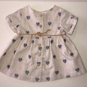 Zara Baby girl dress with hearts